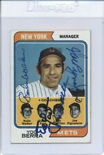 1974 Topps Rube Walker / Yost & Other Coaches #179 Autograph Multi Signed Auto