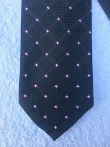 Donald J. Trump Tie - Signature Collection - Black & Geometric Print - 100% Silk