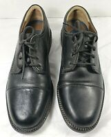 Men's DOCKERS Dress Work Office Shoes BLACK LEATHER Size 11 M Lace Up 090 2214
