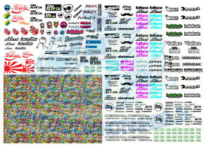 JDM Pack 1 | JDM & Stickerbomb Decals for Hot Wheels & 1:64 Scale Model Cars