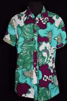 RARE PLUS SIZE VINTAGE FRENCH 1970'S-1980'S  FLORAL  POLY  PRINT BLOUSE