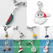 5x Silver Plated Christmas Xmas Charm Dangle Pendant Lobster Clasp Findings DIY