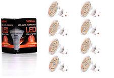 8X GU10 LED Lampe von Seitronic mit 3,5 Watt, 300LM und 60 LEDs Warm weiß 2900K