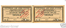 Vintage Sample Airline Ticket UNIVERSAL AIR LINES SYSTEM Chicago Sight Seeing