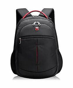 Laptoprucksack Swiss Design schwarz 30l gepolsterte Laptoptasche 15,6 Zoll
