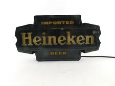 Vintage Heineken Beer Illuminated Electric Lighted Bar Sign Ec, Wall or Bar Top
