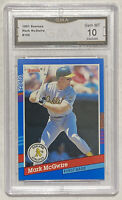 1991 Donruss Mark McGwire #105 Graded Card GMA PSA 10 - Athletics Cardinals