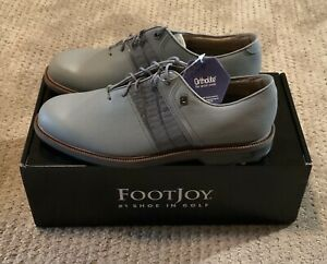 BRAND NEW! Footjoy Dryjos Premiere Series Packard Grey Golf Shoes Size 9.5M