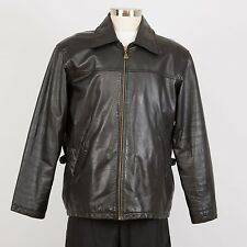 Men's Leather Jacket Size L Large Black M. JULIAN Wilsons