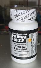 PRIMAL FORCE OMEGA REJUVENOL DR SEARS 30 SOFTGELS NEW SEALED-EXP 5/2021- HEALTH