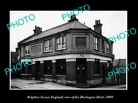 OLD POSTCARD SIZE PHOTO BRIGHTON SUSSEX ENGLAND THE HARRINGTON HOTEL c1940