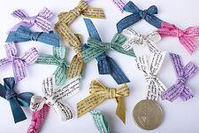 20PCS de 10mm mini des noeuds en ruban satin script écrit embellissement applique