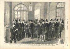 Assemblée à Versailles Jules Grévy Casimir Périer Gambetta Thiers GRAVURE 1873