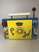 """Vintage 1964 Fisher Price Toys TV Radio """"Farmer In The Dell"""" Works! USA MADE"""