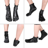 Unisex Men Women's Hot Wetlook Patent Leather Closed Toe Socks Stockings Tights