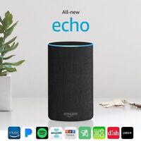 All-new Amazon Echo Charcoal Fabric 2017 2nd Generation Black Dolby Alexa Voice