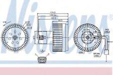 Nissens Interior Cabin Blower Fan 87123 Replaces 30715483,31320392,8665191