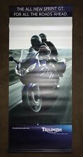 """TRIUMPH MOTORCYCLE BANNER DEALER PROMOTIONAL AD,  Sprint GT.  28"""" X 65"""""""