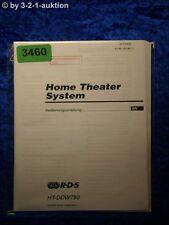 Sony Bedienungsanleitung HT DDW750 Home Theater System (#3460)