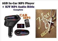 2GB In-Car FM Transmitter +KJV MP3 Audio Bible Complete - The Word On The Go!!