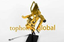 For Yamaha YZF R6 2003 2004 2005 Footpegs Rearsets Rear Brake Set Gold CNC