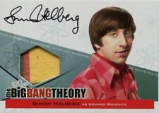 Big Bang Theory Seasons 3 & 4 Auto Wardrobe Card A4 Simon Helberg as Howard