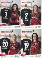 Frauenfussball - SC Freiburg 2015/16, 23 Autogrammkarten, Originalunterschrift!
