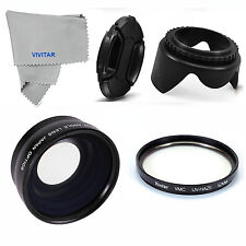52MM Wide Angle Macro Lens + UV Filter & Lens Hood for Nikon D3000 D3200 D3100