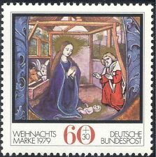Germany 1979 Christmas/Greetings/Nativity/Art/Painting/Cattle/Donkey 1v (g10101)