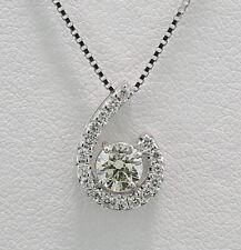 Brillant Collier / Kette mit Solitärdiamant 750er Weißgold Wert 3.470 Euro Neu