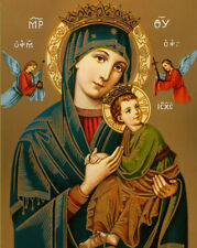 Virgin Mary OUR LADY OF PERPETUAL HELP Catholic Religious 8x10 Canvas Art Print
