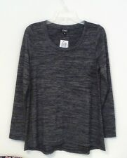 NEW JONES NEW YORK Women's Long Sleeve Knit Top Indigo Melange M