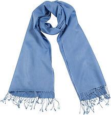 Pashmina Schal Pastellblau, Stola 70% Cashmere 30% Seide, silk scarf blue