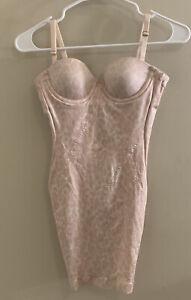 Secret By Victorias Secret Power Figure 32A Cheetah print Cupped Shaping Slip