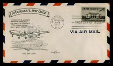 DR WHO 1947 10 CENT AIR MAIL FDC AIRPLANE CACHET C197863