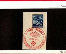 Czechoslovakia SCOTT # unk Used with German cancellation April 20,1941