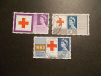 GB 1963 Commemorative Stamps~Red Cross~Fine Used Set~UK Seller