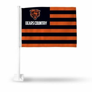 Chicago Bears Country 11x14 Window Mount 2-Sided Car Flag