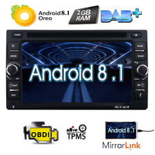 Ram 2Gb Android 8.1 In Dash 2Din Car Dvd Radio Stereo Gps Player WiFi 4G Dab