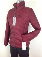 Andrew Marc New WT Women's Burgundy Slimming Down Jacket Best Deal size M, L, XL