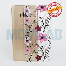 Funda gel / TPU Samsung G955 Galaxy S8 Plus (6.2´) transparente dibujos flores