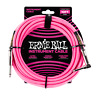 Ernie Ball 10' Braided Straight / Angle Instrument Cable - Neon Pink P06078