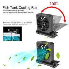 Mini Aquarium Cooling Fan Single Fish Tank Cold Wind Chiller Cooler Adapter