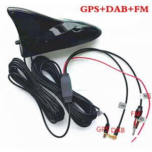 Shark Fin Car Aerial FM DAB GPS Roof Mount Antenna Digital Radio Tuner Amplifier