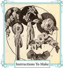 Vintage 1920 patrón de costura Pretty Tela Decorativa Flores, Corsages, Ebook Cd