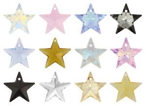 Genuine SWAROVSKI 6714 Star Crystals Pendants * Many Colors & Sizes