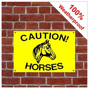 Caution horses sign Equine health and safety signs 9013BY