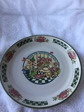 "International Tableworks "" Gardening Season"" Dessert Plate-7.5"""