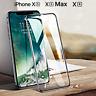 PELLICOLA VETRO TEMPERATO per Iphone XS / Max /XR CURVO COPERTURA TOTALE 5D NERO