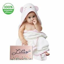 Bamboo Hooded Baby Bath Towel & Wash Mitt Set - Extra Large | Super Soft, Thick